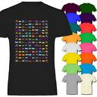 Multi Coloured Steam Trains Carrying Carriages Mens Cotton T-Shirt