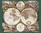3289.Mapa Mundi Ancient Map of World POSTER.Home room office school art decor