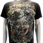 m55b Minute Mirth S M L XL T-shirt Tattoo Joker Skull Baby Demon mma Ghost Indie