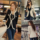 White Black Colors New Slim Ladies Womens Suit Coat Blazer Formal Jacket Button