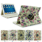 Vintage Floral Woven Pattern 360° Rotating Stand Smart Case for iPad 2 3 4/MINI