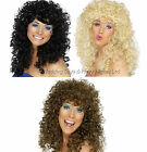 Boogie Babe Long Curly Permed Afro Wig 60s 70s 80s Pop Star Ladies Fancy Dress