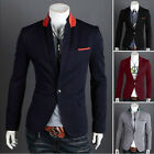 Outerwear Suit  For Men Coats Slim FIT Blazers Jackets Elegant Quality Black Hot