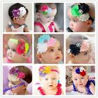 1 Pcs Fashion Baby Hairband Girl Chiffon Flower Headband Christmas Gift 28Styles