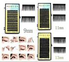 Box of 12pcs Natural Curl Black False Eyelashes Strip Eyelashes 9/11/13mm J1019