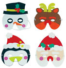 CHRISTMAS FACE EYE MASKS EVA XMAS FANCY DRESS FOAM KIDS ADULTS PARTY LOOT BAG