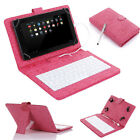 "PU Leather Stand Case Cover USB Keyboard for 7"" inch MID Tablet PC w/ Stylus OTG"