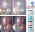 10 Table Kit Happy Christening Helium Balloons Weights Ribbon Boys Girls Party