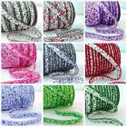 BY THE 25m ROLL - MIMI - FLORAL PICOT LACE CROCHET EDGE BIAS BINDING trim ribbon