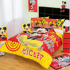 New Disney Mickey Mouse Red Yellow Comforter Bedding Sheet Set