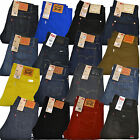 Levis 514 Jeans Mens Straight Leg Levi's Slim Denim Dark Medium Light Blue Black