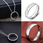 Lord Of The Rings Hobbit Necklace Pendant Chain Stainless Steel Ring With Chain