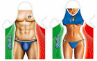 Sexy Funny Italian Man & Woman Polyester Aprons