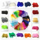 2 / 25 / 50 / 100 Organza Bags Jewellery Pouches - 6x8cm To 7x9cm Uk Seller