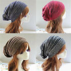 NEW Womens Mens Knit Baggy Beanie Hat Winter Warm Oversized Ski Cap
