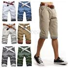 Men's Shorts Chino Cargo Bottoms Designer Casual Summer Pants Trousers UK 28-38