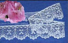 "12/24 Yards 1-1/8"" White Scallop Lace Fabric Trim N91V Buy More-Ship No Charge"