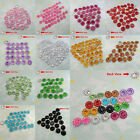 100 Acrylic Sunflower Faceted Bead Pointed Back Rhinestone Pick 12 Color