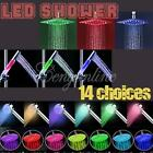 LED Colour Changing Light Faucet Plumbing Shower Head Sprinkler Water Bathroom