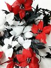 6 FEET LONG ARTIFICIAL LEAVES FLOWER ROSE FOLIAGE CRAFT WEDDING PARTY DECORATION
