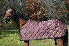 Saratoga Horseworks Quilted Blanket liner, Brown/Black