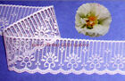 """12/24 Yds Pink Lace Trim 1-7/8"""" Candlewick Scallop R124V Added Items Ship FREE"""