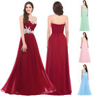 PRINCESS BEADED Long Prom Dresses Evening Party Bridesmaid Formal Gowns Wedding