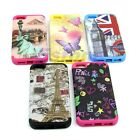 Rubberized Skin Case Cover For Apple iPhone 5C 5 Styles Design Hard Snap-On