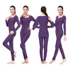 New Women's Winter Cycling Bike Camping Hiking Thermal Underwear Clothing Purple