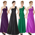 Ever Pretty NWT One Shoulder Ruffles Satin Padded Bridesmaid Party Dress 09667
