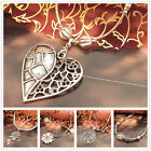 [Tibet9shop] Free Shipping Flower Rose Heart Fish Pendant Tibet Silver Necklace