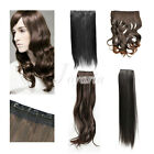 Fashion Women's Straight Curly Wavy Clip On Medium Hair Extension Wigs 5/2 Clips