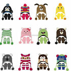 Animal Nuzzles - BOYS & GIRLS BEANIE HAT & MITTENS - Small Age 2-5 years