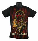 Licensed SLAYER Jumbo Print Hell Awaits Black Speed Metal T-Shirt Black