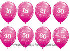 25 Fuchsia Pink Helium Balloons Happy Birthday Choice Of Age Party Decorations