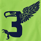 Seattle Seahawks Russell Wilson T-shirt superbowl football jersey 12th man g NEW
