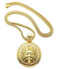 "NEW MEDUSA PIECE PENDANT &4mm/36"" FRANCO CHAIN HIP HOP NECKLACE - XP894"