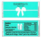 Tiffany Bridal Wedding Shower or Bachelorette Candy Wrappers Party Personalized