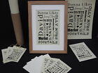 Personalised Parchment Print Likes or Loves Unique Gift plus Notes Greetings