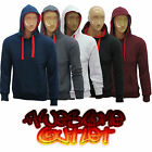 Mens Hoodies Sweatshirt Plain Hooded Fleece Top Jacket Full Sleev Size S M L XL