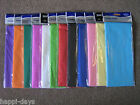 CREPE PAPER - 1.5m x 50cm x 3 PACKS - CHOOSE Purple Red Blue Green Pink Yellow