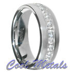 1.3 Carat Tungsten Carbide Round Cut CZ Men Women Wedding Band Ring Size 7-15