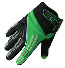 CHILDRENS Motocross MX GLOVES Kids  GREEN Kawasaki Trials motorcross by Qtech