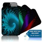 'SWIRL (M)' Shock / Water Resistant Mobile Phone Case, Pouch for NOKIA ASHA 201