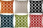 "CHENILLE OH CUSHION COVERS 18"" x 18"" 22"" x 22"" CHOOSE YOUR FILLING ALL COLOURS"