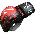 Rex Leather Grappling GlovesTraining Mitts Cage Fight MMA Gloves