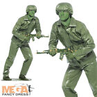 Green Toy Soldier + Hat Mens Fancy Dress Army Uniform Toy Story Military Costume