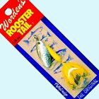 NEW Rooster Tail SILVER  YELLOW Spinner Lures Choice Size / Quantity