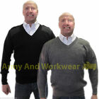 FINE KNIT NATO PILOT SECURITY JUMPER ARMY DOORMAN MILITARY PULLOVER SWEATER MENS