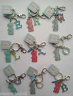 ME TO YOU KEYRING with TATTY TEDDY CHARM and INITIAL LETTER for NAME